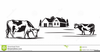 Cattle Ranch Clipart Image