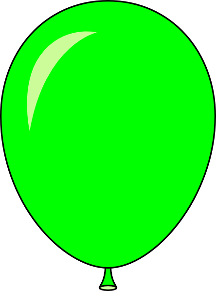new green balloon light lft clip art at clkercom