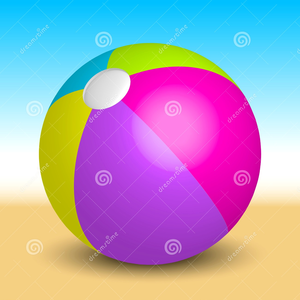 Inflatable Beach Ball Beach Vector Illustration Image