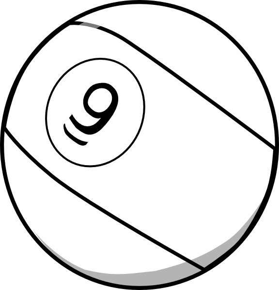 Pool Ball 9 Clip Art at Clker.com - vector clip art online ...