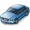 Car Sedan Blue Image