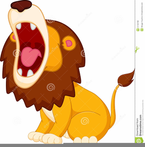 cartoon roaring lion clipart free images at clker com vector rh clker com Roaring Lion Outline roaring lion clipart free