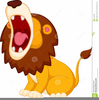 Cartoon Roaring Lion Clipart Image