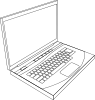 Aurium Laptop In Line Art Clip Art