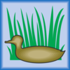 Duck Silhouette In Grass Clip Art