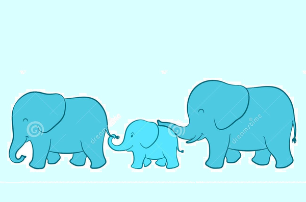 Elephant Family Cartoon Free Images At Clker Com