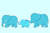 Elephant Family Cartoon Image