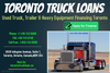 Used Truck Trailer And Heavy Equipment Financing Toronto Image