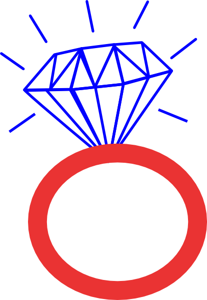 diamond ring cubs clear blue clip art at clkercom
