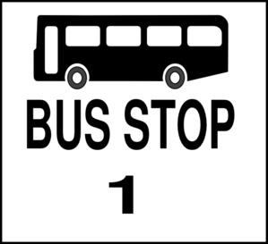 Bus Stop 1 Clip Art at Clker.com - vector clip art online, royalty ...