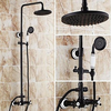 Inch Antique Oil Rubbed Bronze Finish Two Handles Shower Faucet Image