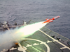 A Bqm-74e Aerial Drone Target Is Launched From The Guided Missile Frigate Uss Curts (ffg 38) Image