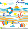 Seaside Holiday Clipart Image