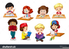 Free Clipart Of Kids Writing Image
