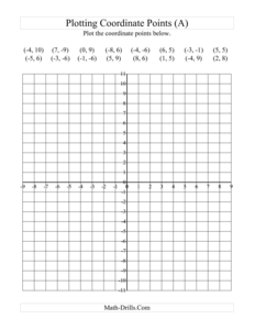Clipart Of Coordinate Plane Quadrant I Image