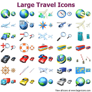 Large Travel Icons Image