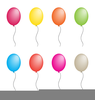 Birthday Party Balloons Clipart Image
