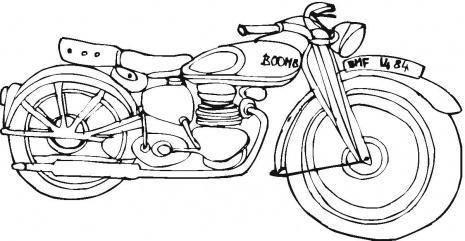 Harley Davidson Coloring Page Free Images At Clker Com