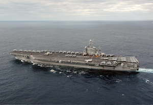 Uss George Washington (cvn 73) Sails Off The Coast Of Florida. Image