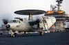 E-2c Hawkeye Maneuvers The Flight Deck Aboard Uss Kitty Hawk Cv 63 Image