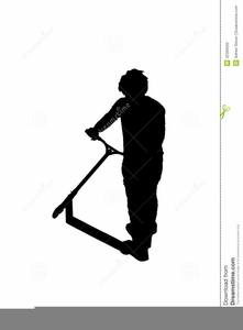 Stunt Scooter Clipart Image