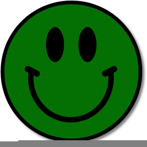 Green Happy Face Clipart Image