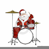 Santa Playing The Drums Clipart Image