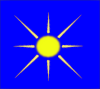 Sun With Blue Sky Clip Art