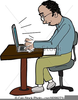 Computer Typing Clipart Image