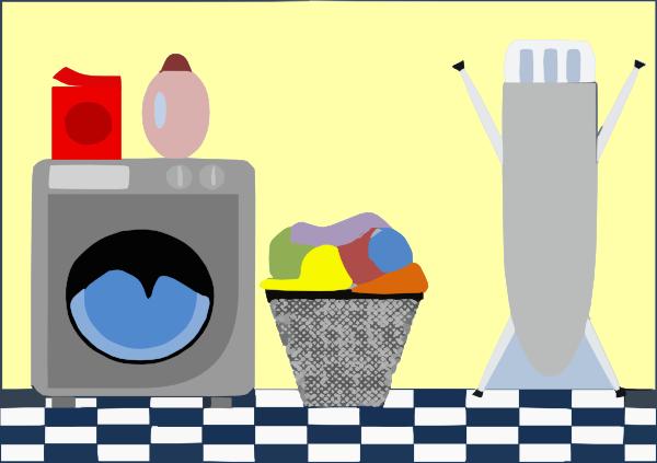 Cute Laundry Room Clip Art at Clker.com - vector clip art ...