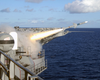 One Of The Ship S Sea Sparrow Rim-7 Surface-to-air Missiles Launches During A Training Exercise. Image