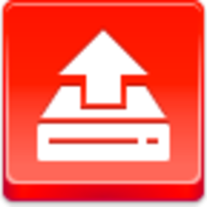 Free Red Button Icons Drive Upload Image