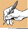 Hand With Pencil Clipart Image