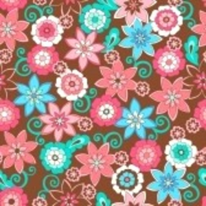 Flowers Seamless Repeat Pattern Vector Illustration Image