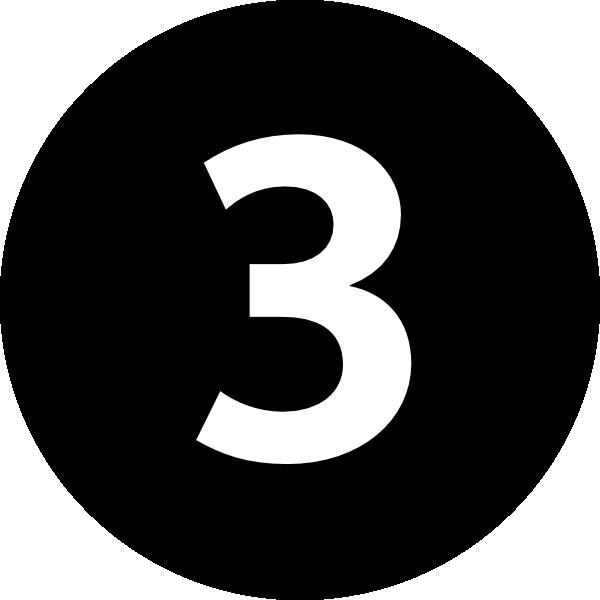 Resultado de imagen de number three png