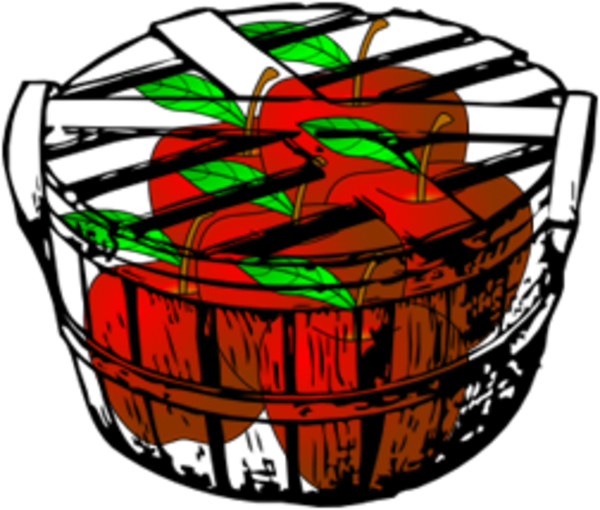 apple basket free images at clkercom vector clip art