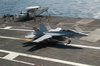 An F/a-18f Super Hornet Catches The Number Three Arresting Wire Becoming The First Super Hornet To Land Aboard Uss Kitty Hawk (cv 63). Image