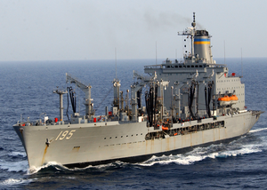 Usns Leroy Grumman (t-ao 195) Underway Following A Replenishment At Sea With The Aircraft Carrier Uss Harry S. Truman (cvn 75). Image