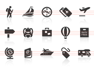 Travel And Vacation Icons Image