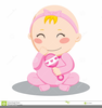 Pink Baby Rattle Clipart Image