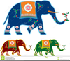 Indian Elephants Clipart Image