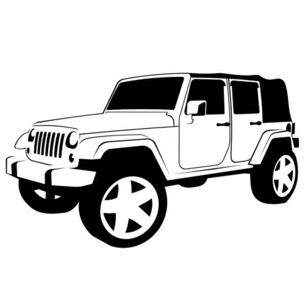 Line Drawing Jeep : Jeep wrangler free images at clker vector clip