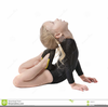 A Girl Gymnast Clipart Image