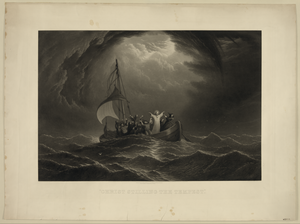 Christ Stilling The Tempest   / Painted By James Hamilton ; Engraved By Samuel Sartain, Phila. Image