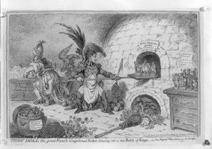 Tiddy-doll, The Great French Gingerbread-baker; Drawing Out A New Batch Of Kings - His Man, Hopping Talley, Mixing Up The Dough  / Js. Gillray Invd. & Fec. Image