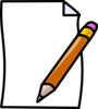 Paper And Pencil Clip Art
