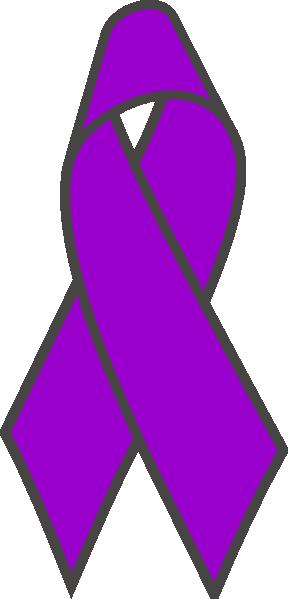 purple ribbon 2 clip art at clkercom vector clip art