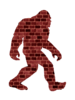 Bigfoot Brick Wall Image