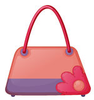 Pink Fashion Bag Illustration White Background Image