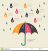 Clipart Of Umbrellas And Rain Image